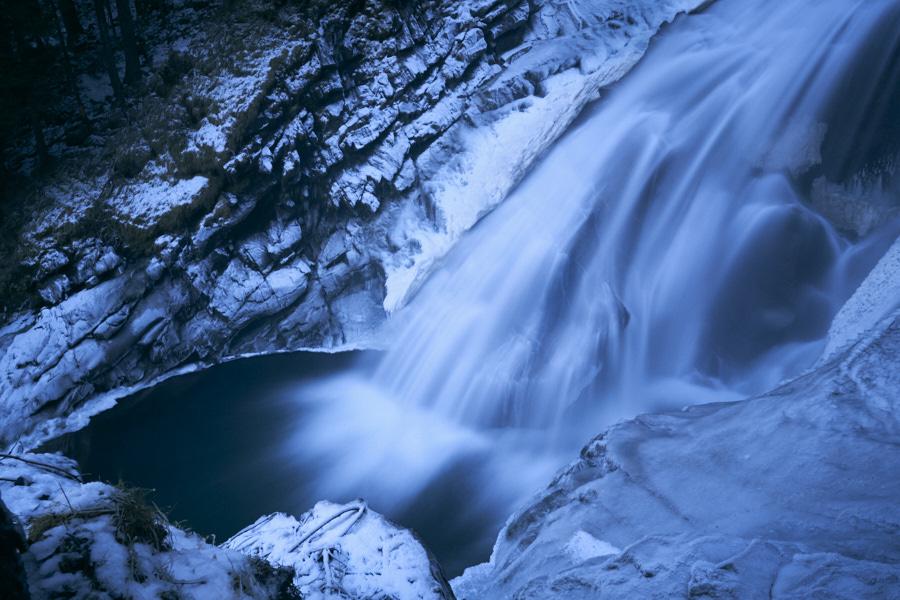 Krimmler Wasserfälle: Langzeitbelichtungen an Eis, Fels und Wasser